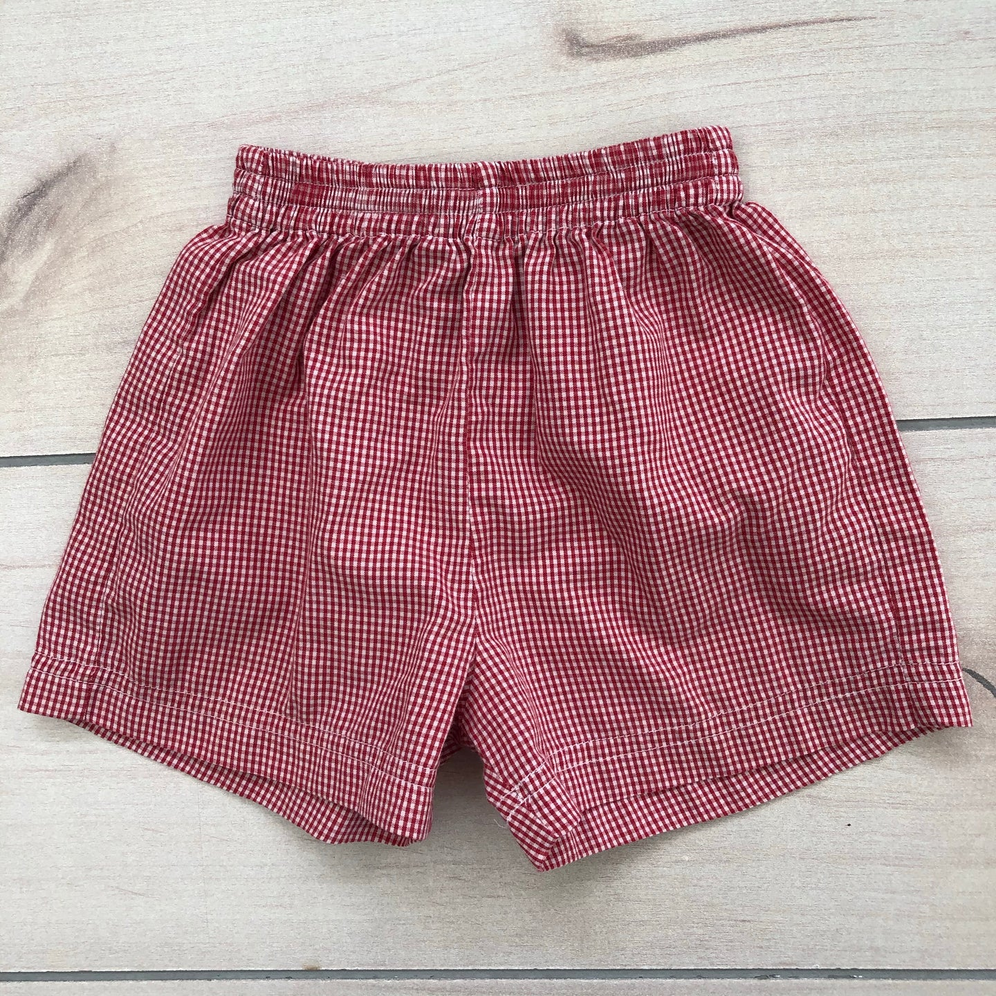 Red Gingham Check Shorts 8 Months