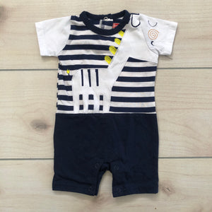 Swiggles Striped Romper Size 0-3 months
