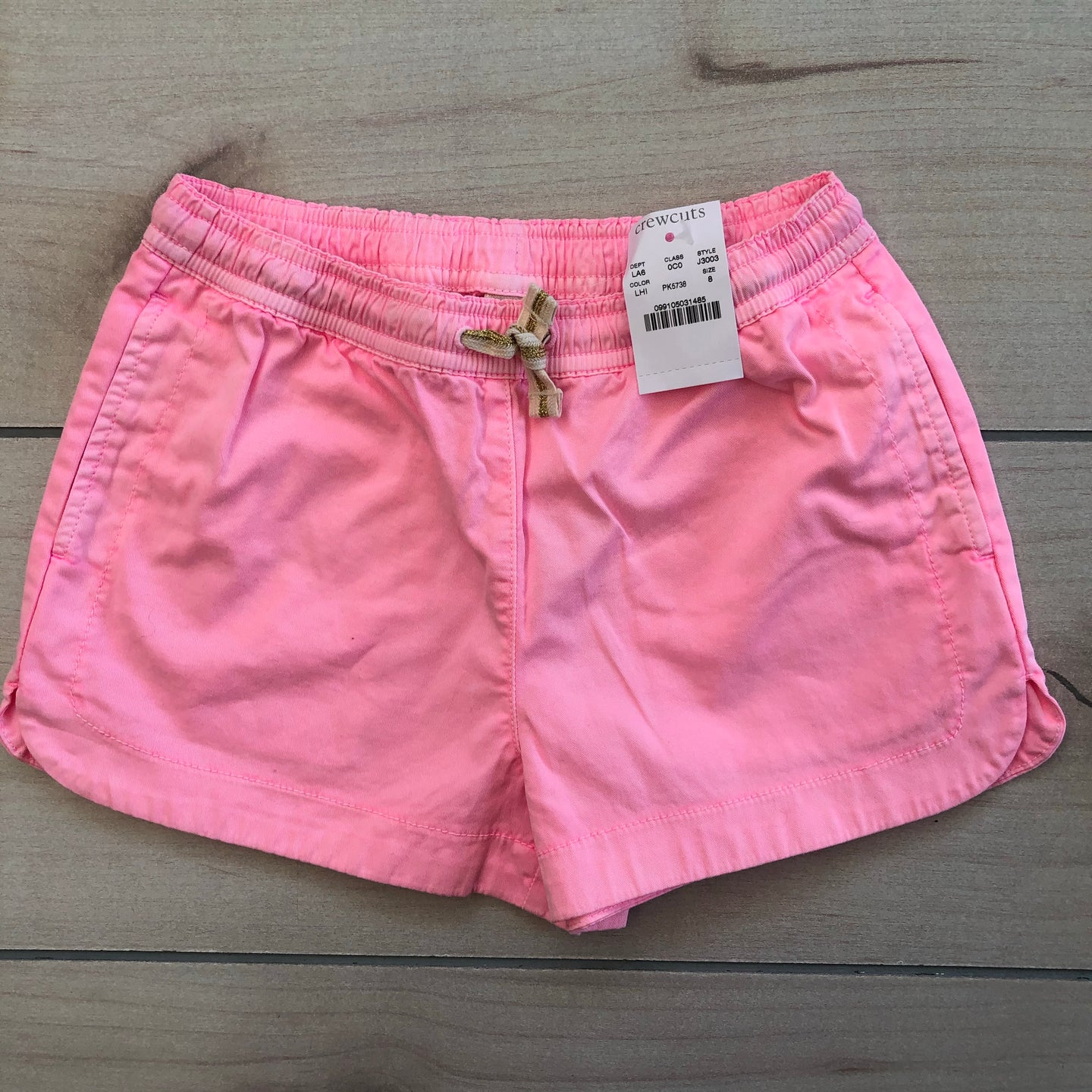 Crewcuts Pink Pull on Shorts Size 8 NWT