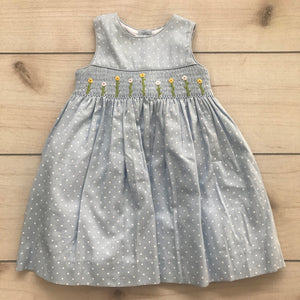 Laura Ashley Smocked Blue Dress with Bloomers Size 18 month