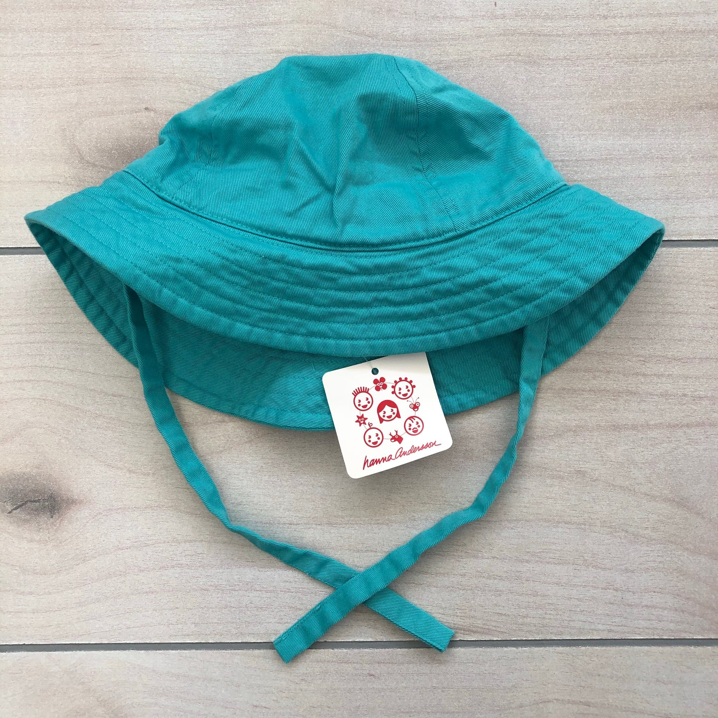 Hanna Andersson Turquoise Sun Hat Size Small NWT