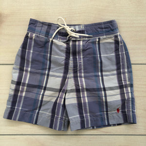 Ralph Lauren Purple Plaid Swim Trunks Size 2t