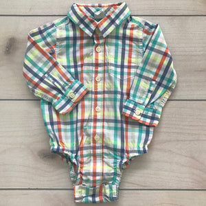 Baby Gap Button Down Body Suit Size 12-18 months