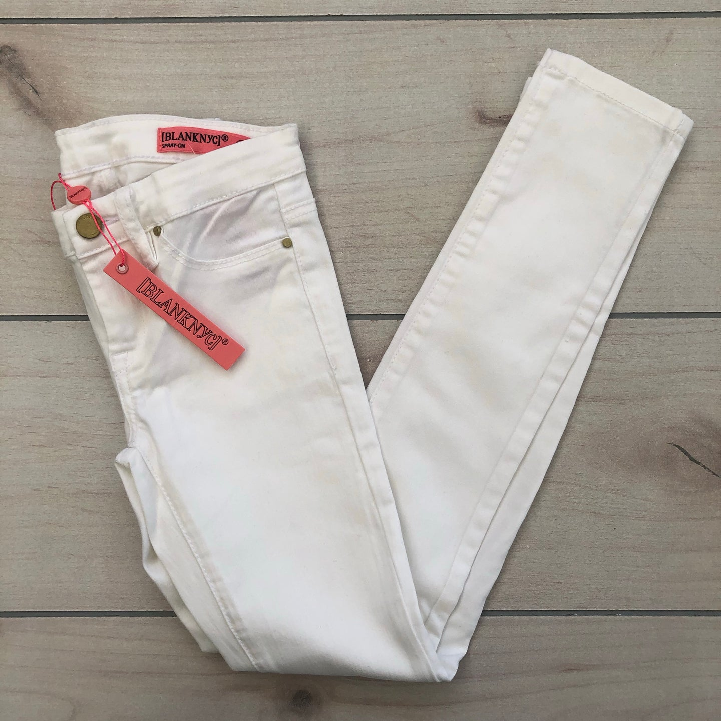 Blank NYC White Spray-On Jeans Size 10 NWT