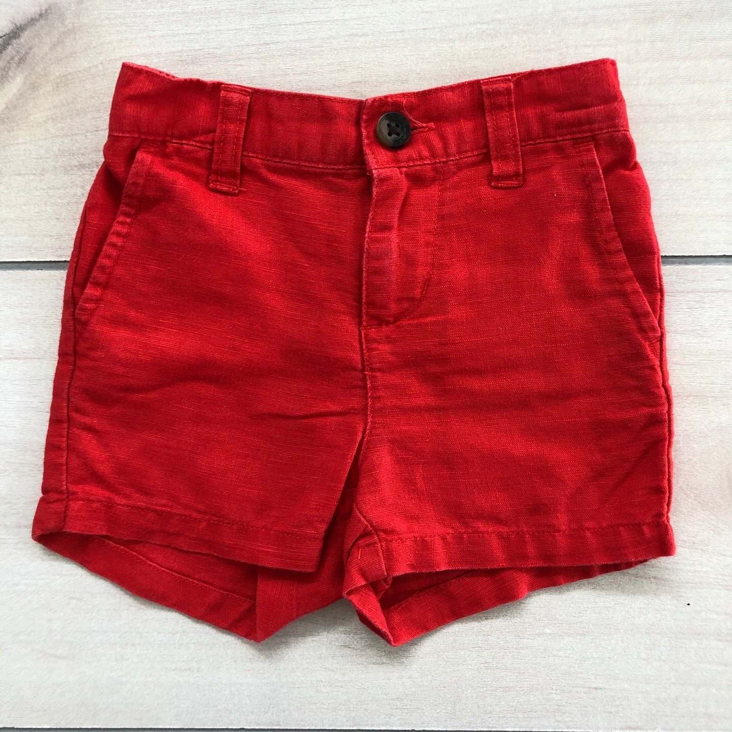 Janie and Jack Red Shorts 6-12 months