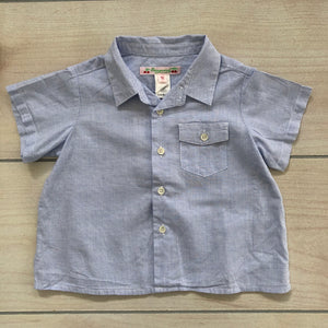 Bonpoint Blue Gingham Button Down Size 12 months