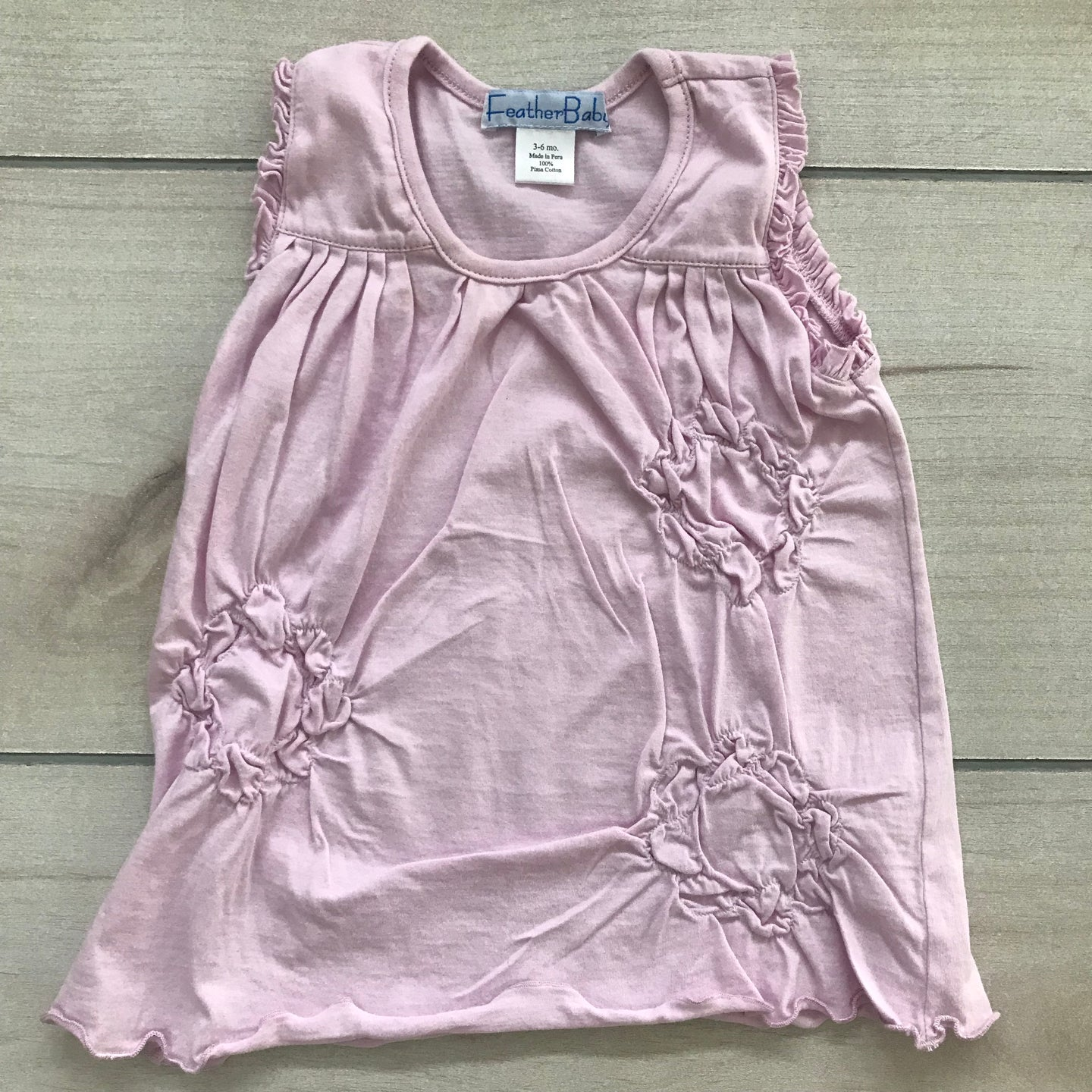 Feather Baby Pink Dress Size 3-6 months