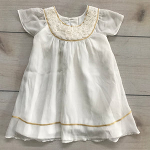 Monsoon White Dress Size 6-12 months