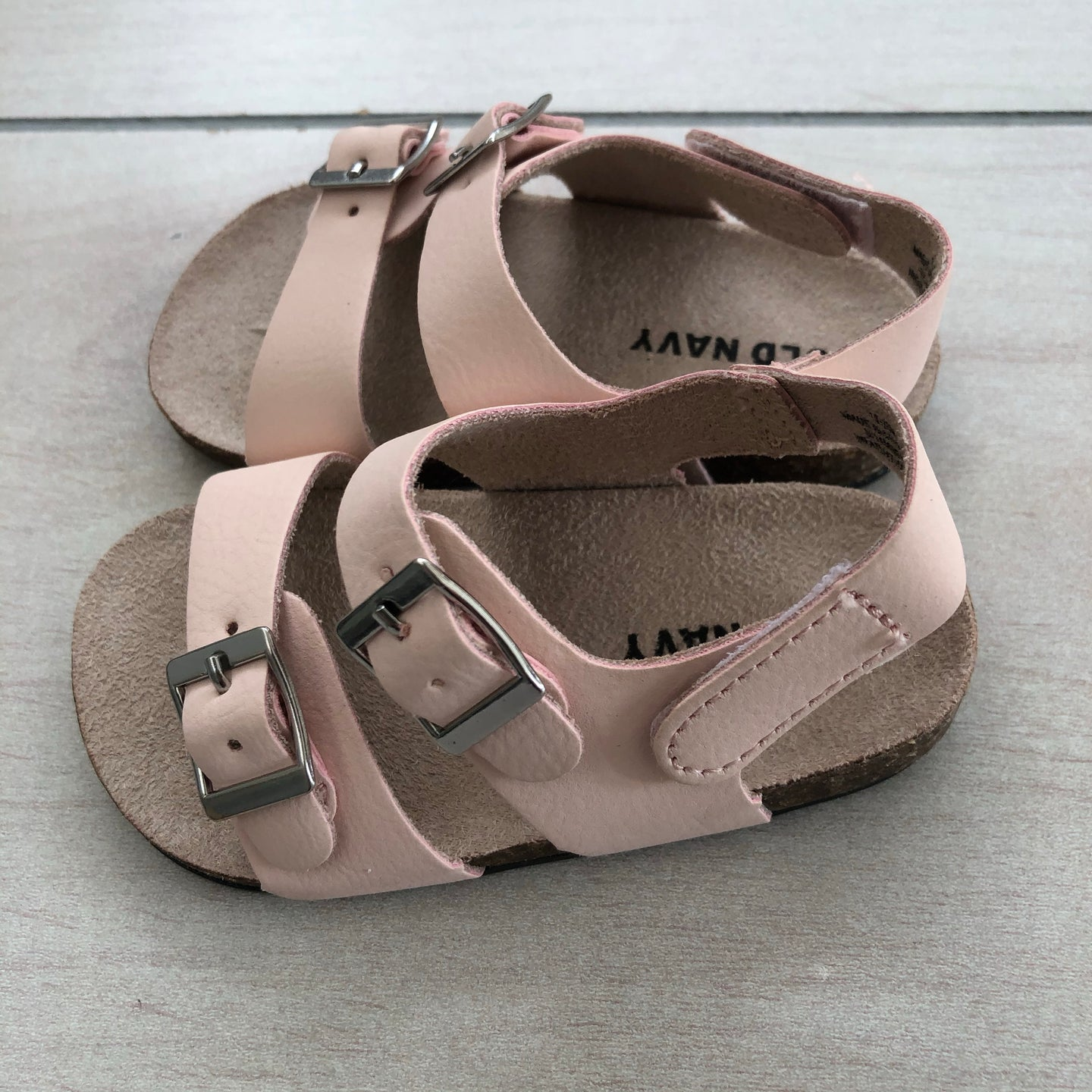 Old Navy Pale Pink Sandals 12-18 Size Months