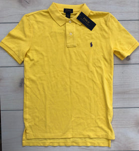 Ralph Lauren Yellow Polo Shirt Size 10-12 NWT