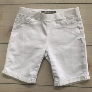 Tractr White Stretch Denim Shorts Size 12