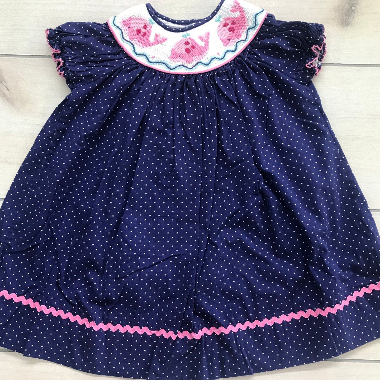 Marmellata Smocked Whale Dress Size 2