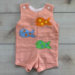 Funtasia Too Orange Gingham Shortall 9 months