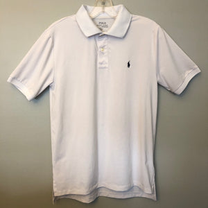 Ralph Lauren White Performance SS Polo Size L