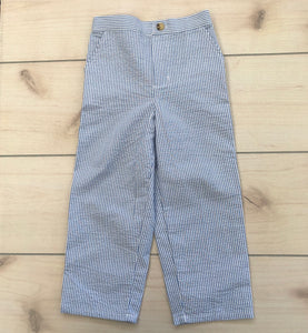 Blue Seersucker Pants Size 4