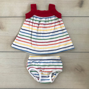 Hanna Andersson Dress with matching bloomers 0-3 months