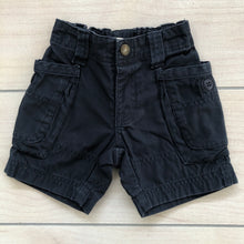 Load image into Gallery viewer, Tea Collection Blue Cargo Shorts Size 6-12 months
