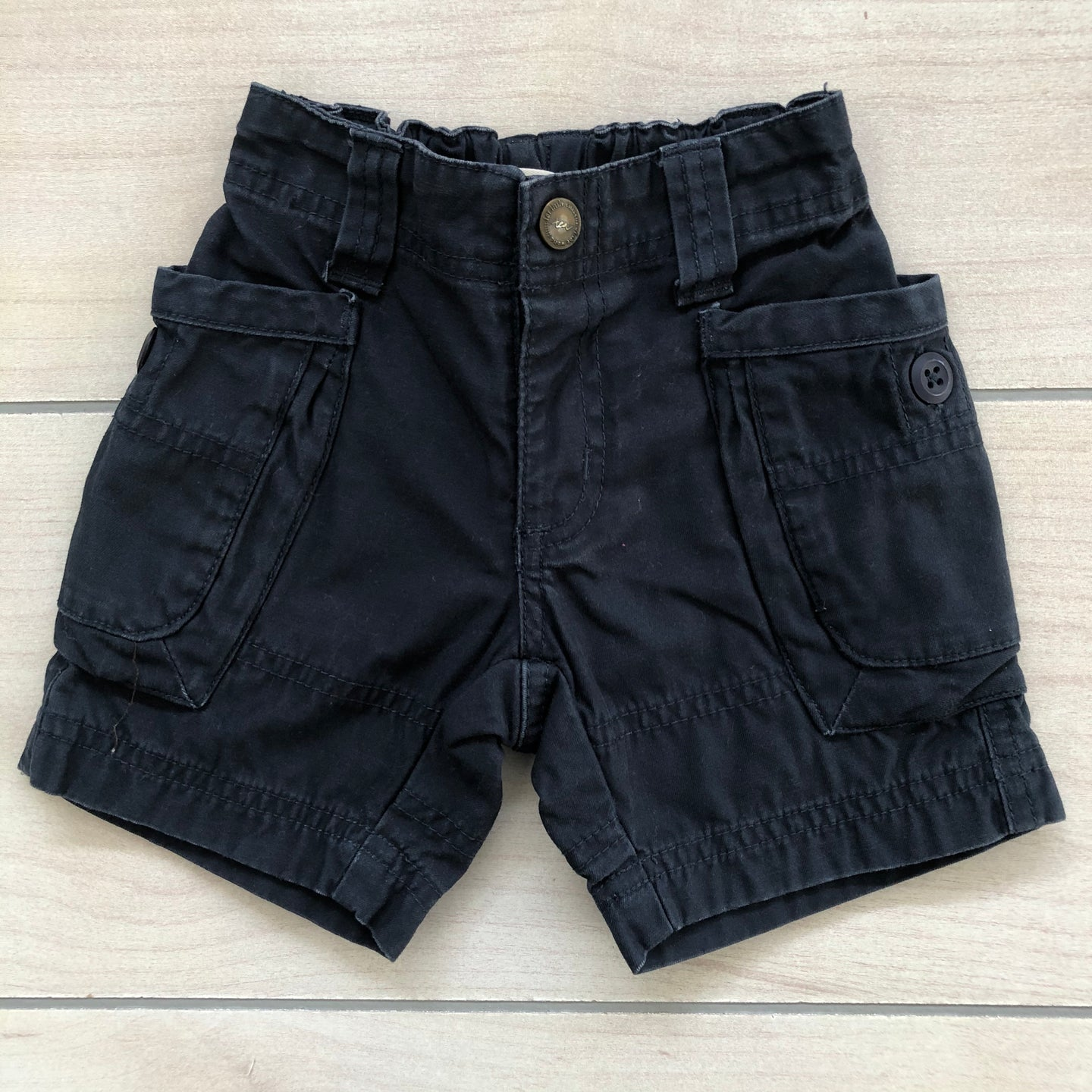 Tea Collection Blue Cargo Shorts Size 6-12 months