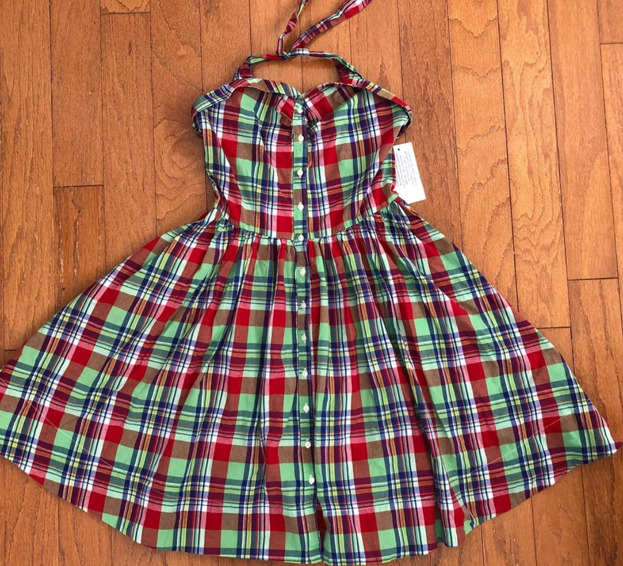 Ralph Lauren Summer Plaid Dress Size 12 NWT