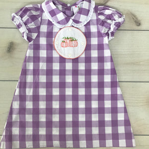 Eliza James Purple Check Dress Size 4T