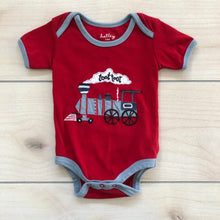 Load image into Gallery viewer, Hatley Red Train Bodysuit Size 3-6 months