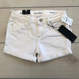 DL1961 White Piper Cuffed Jean Shorts NWT