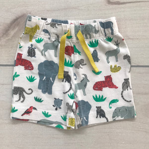 Baby Boden Jungle Friends Shorts Size 0-3 months