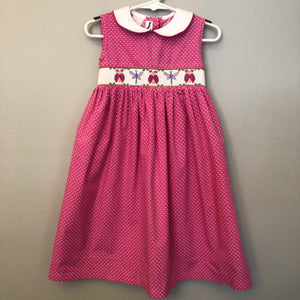 Silly Goose Pink Smocked Dress Size 3
