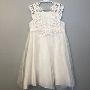 Monsoon White Dress Size 7