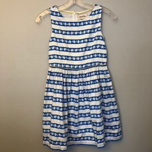 Johnnie B Blue and White Dress Size 9-10