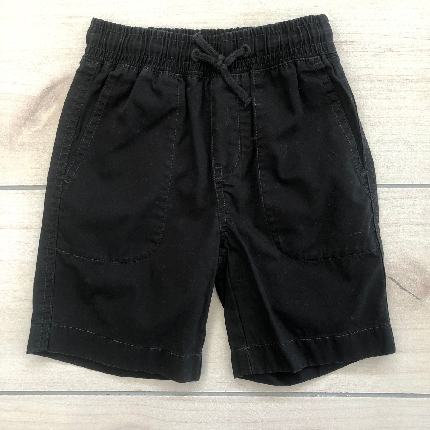 Crewcuts Black Pull Up Shorts Size 5