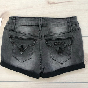 Hudson Roll Cuff Gray Denim Shorts Size 10 NWT