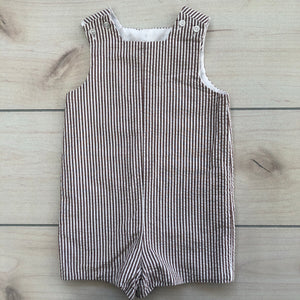 Bailey Boys Brown Seersucker Shortall Size 2