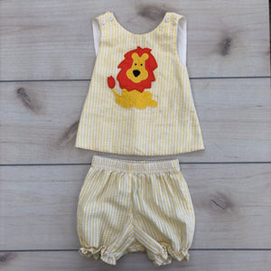 Kelly's Kids Two Piece Yellow Lion Set 12 months