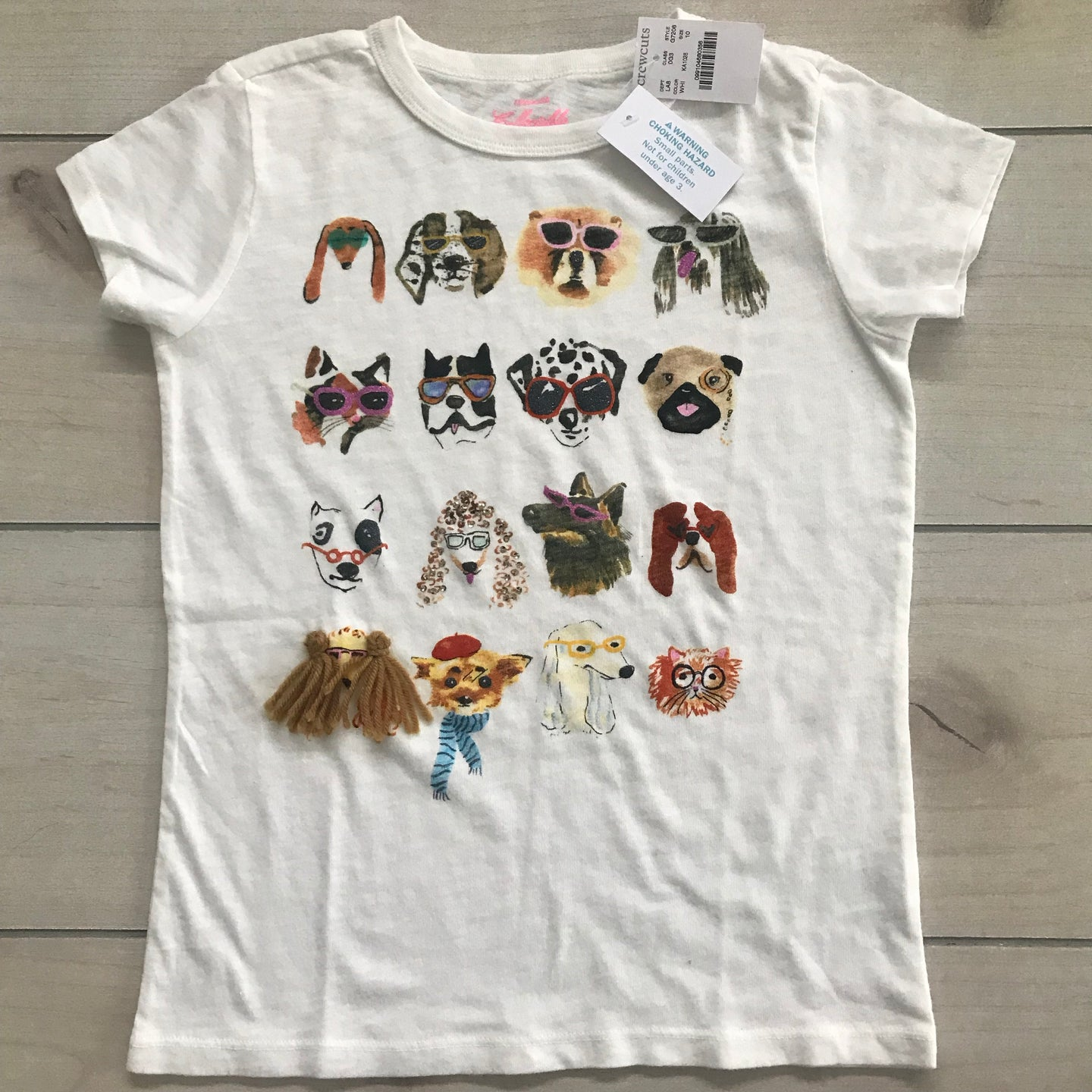 Crewcuts Collectible Dogs Graphic T-Shirt Size 10 NWT