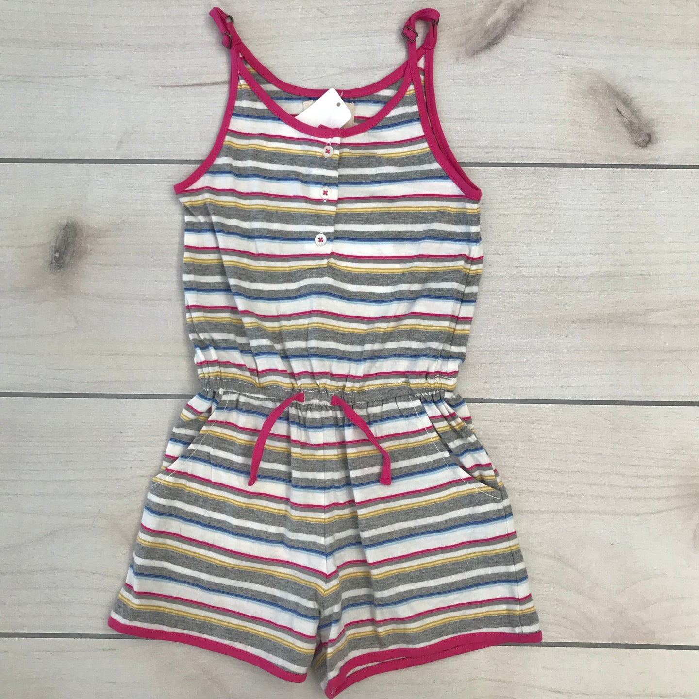 Peek Striped Janice Romper Size XS 2-3