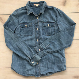 Crewcuts Girls Denim Button Down Shirt 12