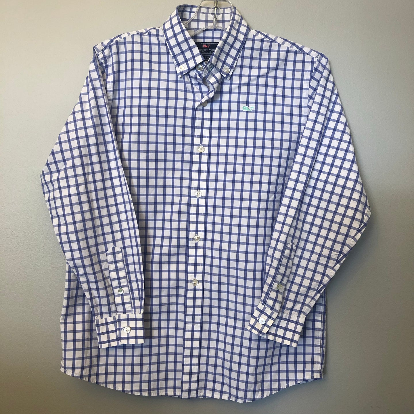 Vineyard Vines Whale Shirt Button Down Size 12-14