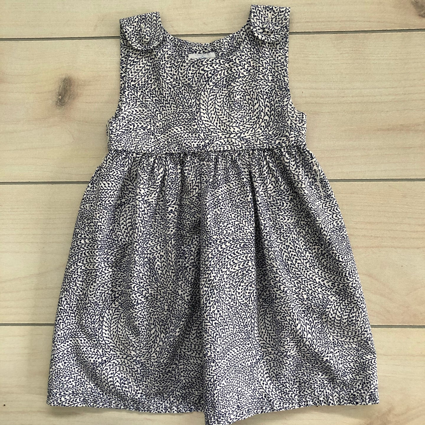 Princess Linens Blue and White Dress 4T