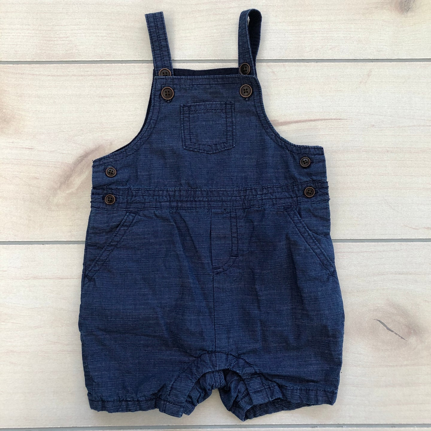 Janie and Jack Blue Shortall Size 6-12 months