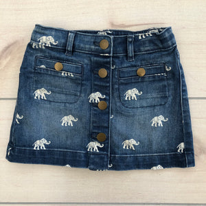 Crewcuts Denim Elephant Skirt Size 3