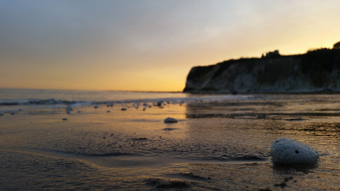 Dumpton Gap at Sunset, Broadstairs