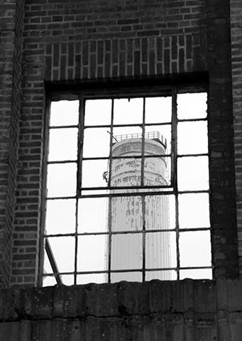 Battersea Chimney View B&W 2