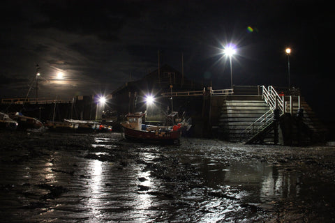 Viking Bay, Broadstairs by Moonlight (Colour)