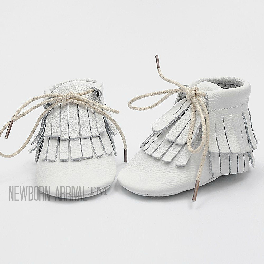 Newborn Arrival™ 100% Genuine Leather Baby Moccasins - FREE USA SHIPPING