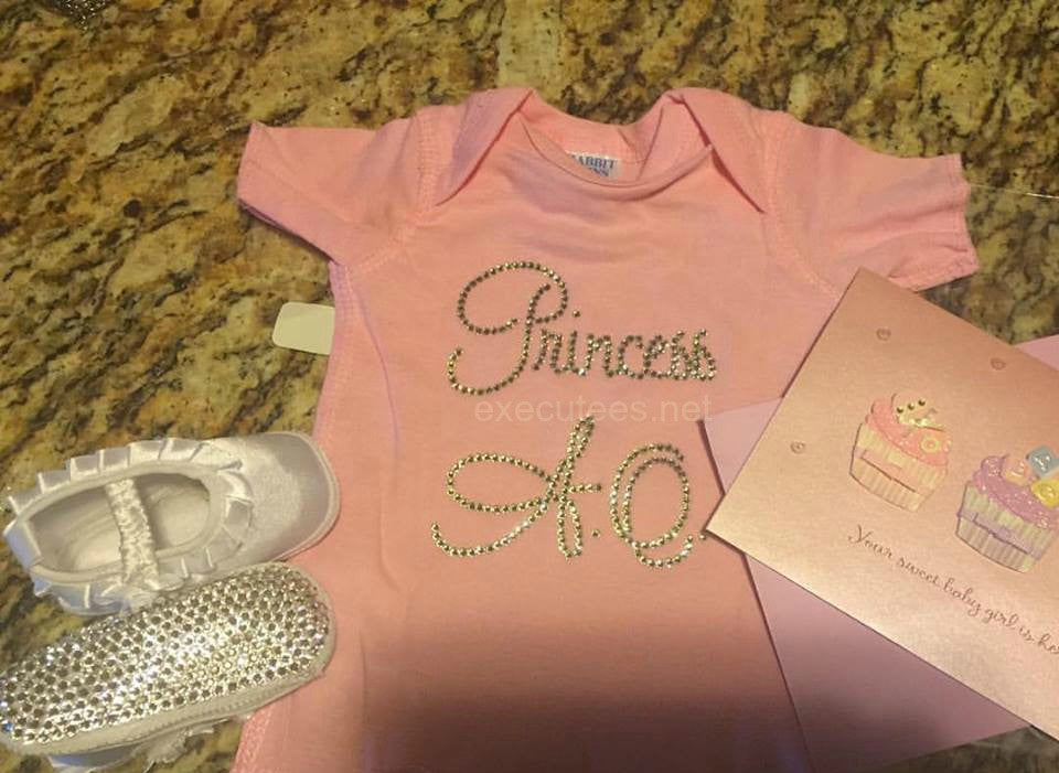 Executees™ Princess or Prince (Your Baby Initials) Infant Tee
