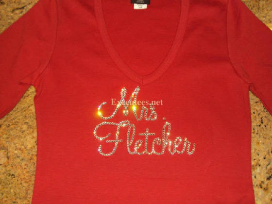 Mrs. Your Last Name in Script Tee - 12 Letter Max - Fletcher Design - FREE USA SHIPPING