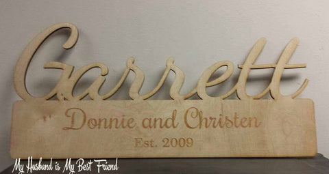 Custom Last Name & Est. Sign - FREE USA SHIPPING
