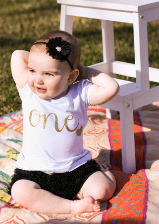 Newborn Arrival Gold Glitter One-Five Shirts- FREE USA SHIPPING.