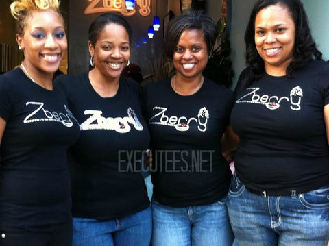 Custom Business Logo Crystal T-Shirts made with CRYSTALLIZED™ Swarovski Crystals.